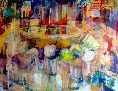 alhambra 1 cuadro por pintora aracely alarcon
