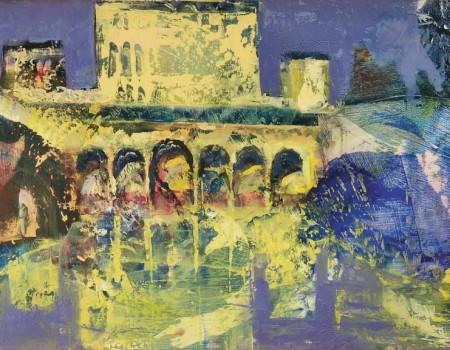 alhambra 2 cuadro por pintora aracely alarcon