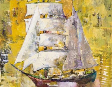 navegando XXV años cuadro de la pintora aracely alarcon